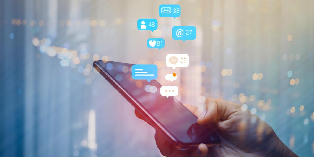 Social Media notifications from phone